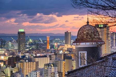 Kobe, Japan city skyline from Kitano historic district. Фото со стока
