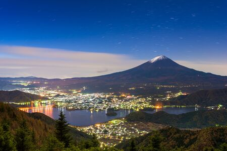 kawaguchi: Kawaguchi Lake, Japan with Mt. Fuji.