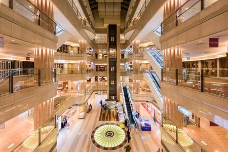 domestic: TOKYO, JAPAN - SEPTEMBER 1, 2015: Domestic Terminal Mall of Haneda Airport.