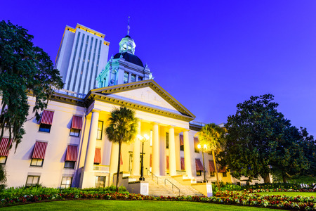 capitol: Tallahassee, Florida, USA at the Old and New Capitol Building.