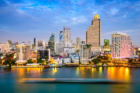 chao phraya: Bangkok, Thailand skyline on the Chao Phraya River.