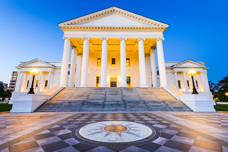 Virginia State Capitol in Richmond, Virginia, USA. 스톡 콘텐츠