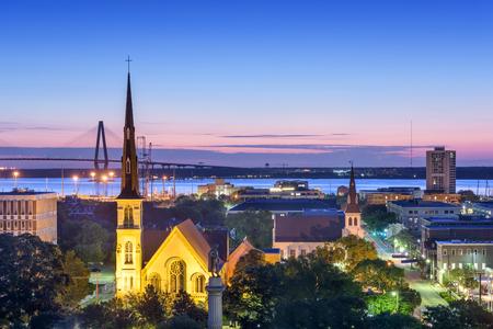 Charleston, Caroline du Sud, Etats-Unis centre horizon. Banque d'images