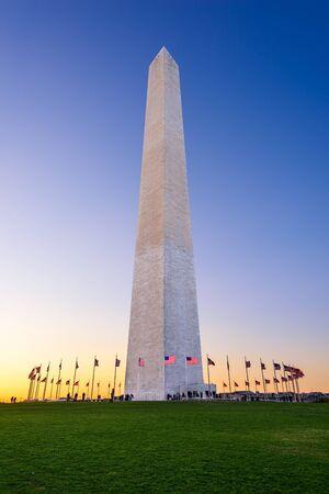 monument: Washington DC, USA at the Washington Memorial.
