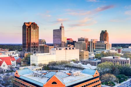 north american: Raleigh, North Carolina, USA downtown city skyline. Stock Photo