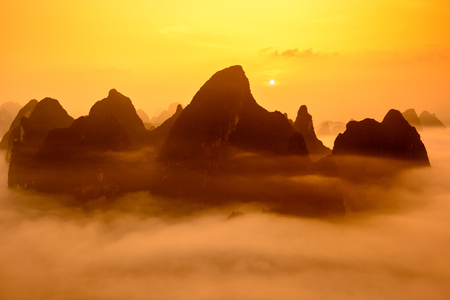 Guilin, China Karst mountains.