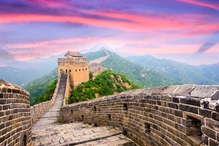 Great Wall of China am Jinshanling Abschnitt. Standard-Bild - 51190859