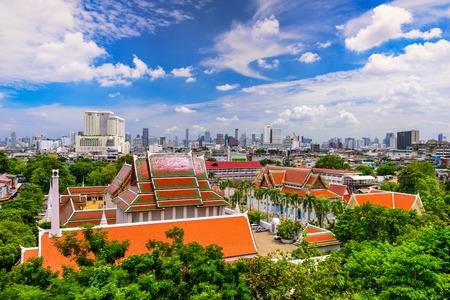 Bangkok, Thailand city view from Wat Saket Temple.