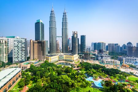 malaysia city: Kuala Lumpur, Malaysia City Center skyline. Stock Photo