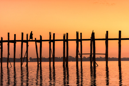 teakwood: U-Bein Bridge in Mandalay, Myanmar.