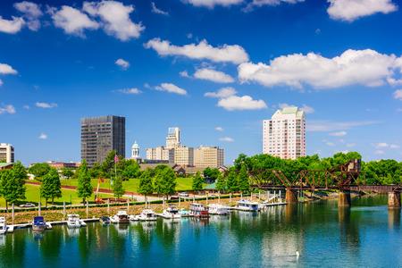 Augusta, Georgia, USA na rzece Savannah.