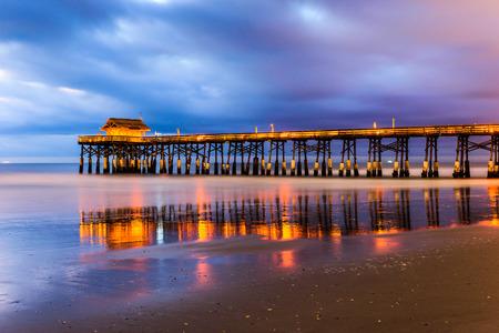 Cocoa Beach, Floride, USA sur le quai. Banque d'images