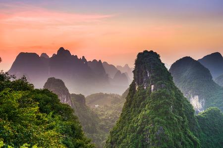 guilin: Karst Mountains of Xingping, Guilin, China.