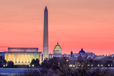 washington: Washington DC, USA skyline.