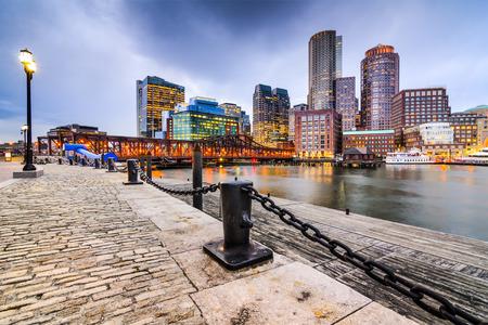 boston cityscape: Boston, Massachusetts, USA downtown skyline.