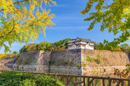 osaka castle: Osaka Castle, Japan corner guard tower during autumn. Editorial