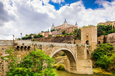 toledo: Toledo, Spain old town skyline. Stock Photo