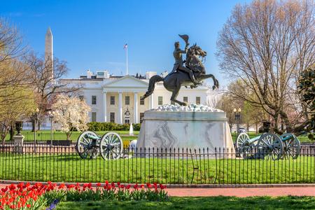 Washington, DC in het Witte Huis en Lafayette Square. Stockfoto