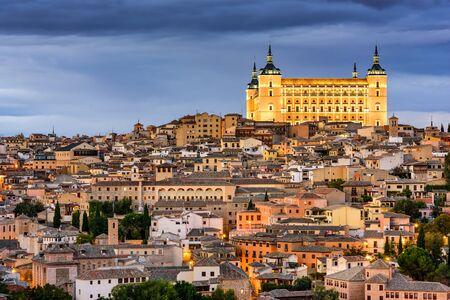 toledo town: Toledo, Spain old town skyline. Stock Photo