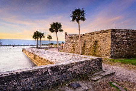 augustine: St. Augustine, Florida at the Castillo de San Marcos National Monument. Editorial