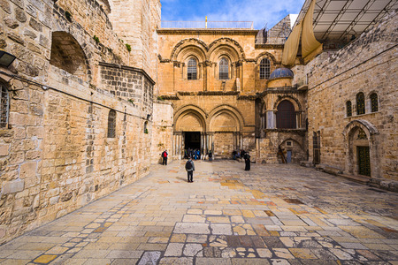 sepulchre: Church of the Holy Sepulchre in Jerusalem, Israel Editorial