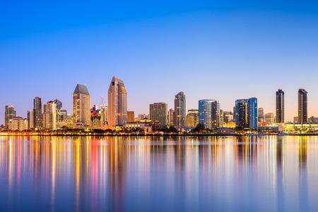 アメリカ合衆国、サンディエゴ、カリフォルニア、スカイライン。 写真素材
