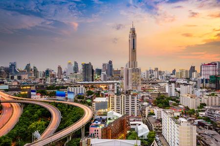 タイ ・ バンコクのダウンタウンの街並み。 写真素材