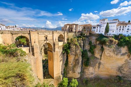 nuevo: Ronda, Spain at the Puente Nuevo Bridge. Stock Photo