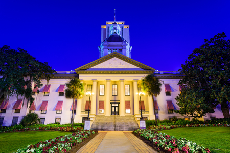 governmental: Tallahassee, Florida, USA at the Old and New Capitol Building.