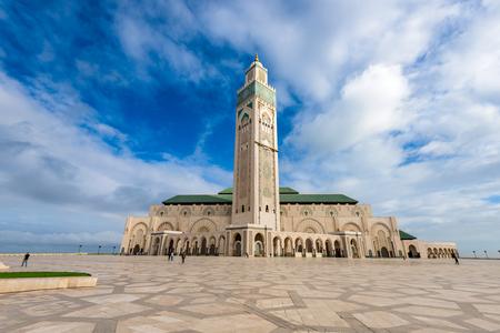 Casablanca, Marokko bij Hassan II Moskee.