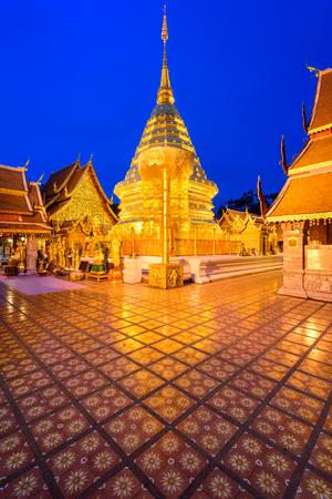 that: Wat Phra That Doi Suthep Temple of Chiang Mai, Thailand. Stock Photo