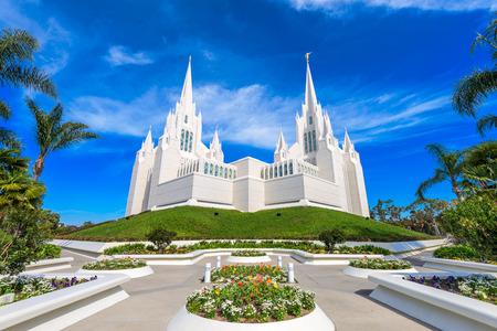 lds: San Diego, California at San Diego California Mormon Temple.