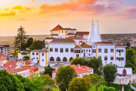 palacio: Sintra, Portugal old city at Sintra National Palace. Editorial