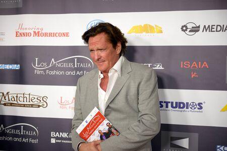 film festival: FEBRUARY 22, 2016: The actor Michael Madsen at the Los Angeles Italian Film Festival.
