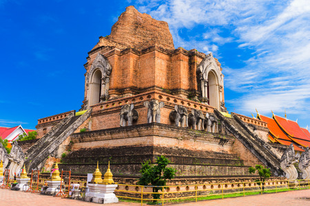 チェンマイ、タイ ワット チェディ ルアンで。