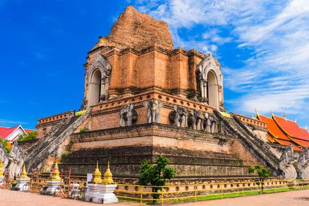 mai: Chiang Mai, Thailand at Wat Chedi Luang.