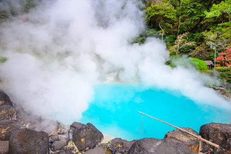 """Beppu, Japón en el """"infierno"""" mar de aguas termales."""