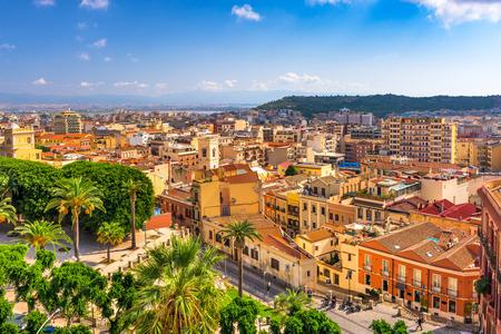 Cagliari, Sardinië, Italië stadsgezicht.