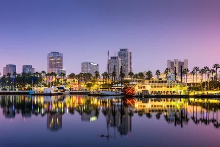 Long Beach, Californië, Verenigde Staten skyline.
