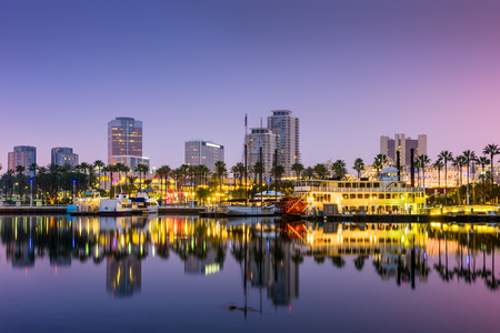 marina: Long Beach, California, USA skyline.