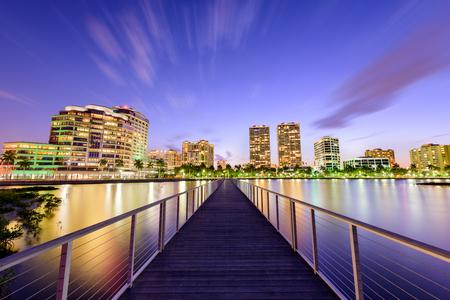 floridian: West Palm Beach, Florida, USA downtown skyline on the intracoastal waterway.