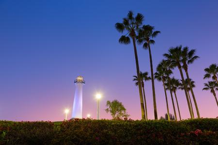Long Beach, Californië, Harbor vuurtoren. Stockfoto