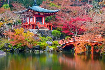 Kyoto, Japan at Daigo-ji Temple in autumn.
