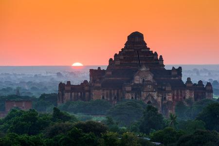 Bagan, Myanmar archeological zone at Dhammayangyi Temple.