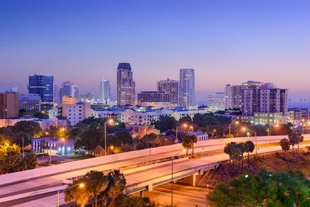 fl: St. Petersburg, Florida, USA downtown skyline. Stock Photo