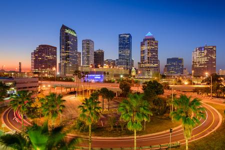 Tampa, Florida, Verenigde Staten van de stad skyline. Stockfoto