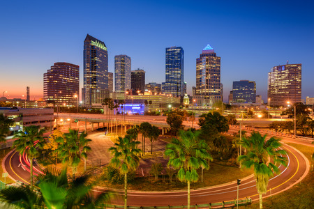 Tampa, Floride, États-Unis centre horizon.