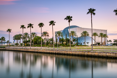 ST. PETERSBURG, FLORIDA - APRIL 6, 2016: Exterior of the Salvador Dali Museum. The museum houses the largest collection of Dalis work outside Europe. Editorial