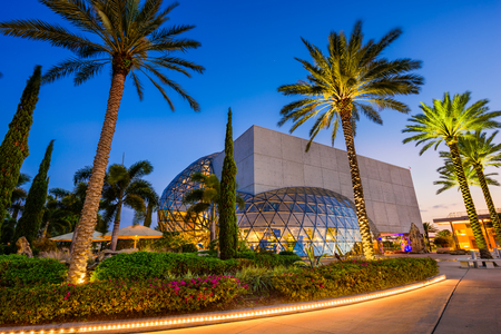 St  Petersburg: ST. PETERSBURG, FLORIDA - APRIL 6, 2016: Exterior of the Salvador Dali Museum. The museum houses the largest collection of the works of Salvador Dali outside Europe.