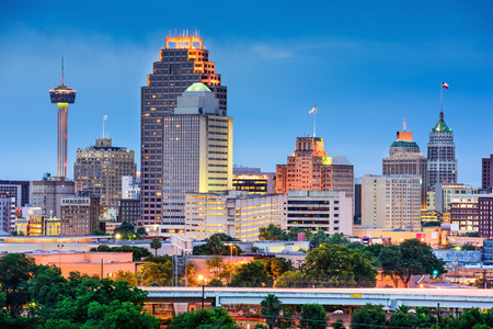 サン ・ アントニオ、テキサス、米国のスカイライン。 写真素材